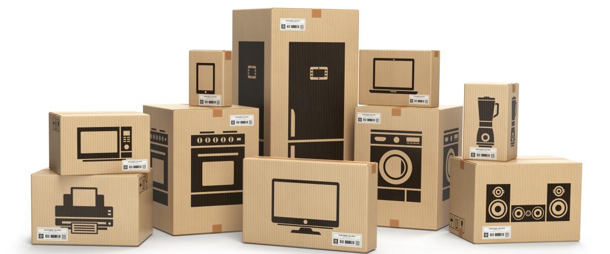 Boxes of electronics
